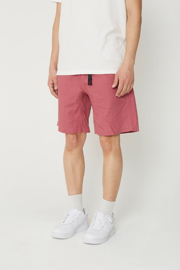 LINEN COTTON G-SHORTS PLUM