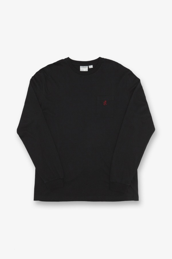 ONE POINT L/S TEE BLACK