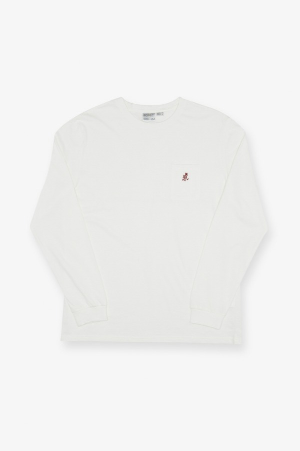 ONE POINT L/S TEE WHITE