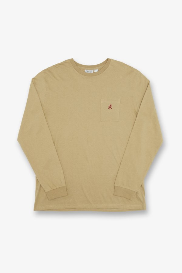 ONE POINT L/S TEE BEIGE