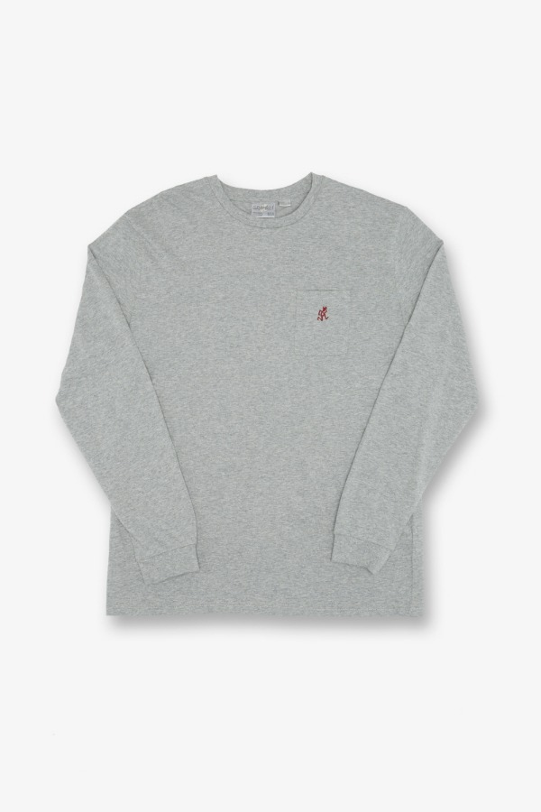 ONE POINT L/S TEE HEATHER GREY