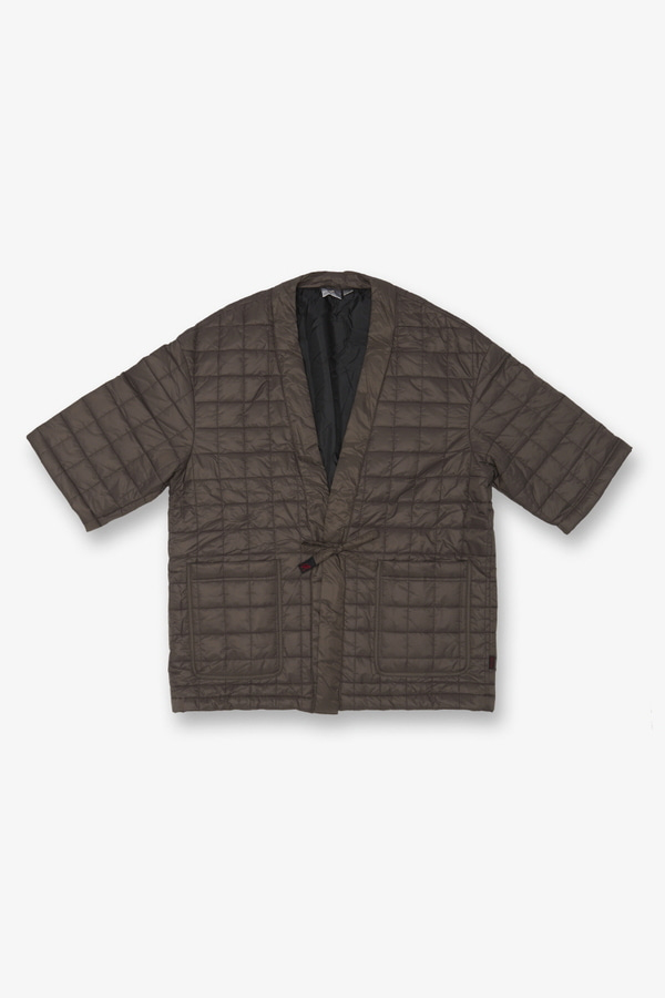 QUILTING ROBE JACKET DARK BROWN