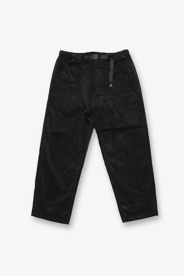 CORDUROY LOOSE TAPERED PANTS BLACK