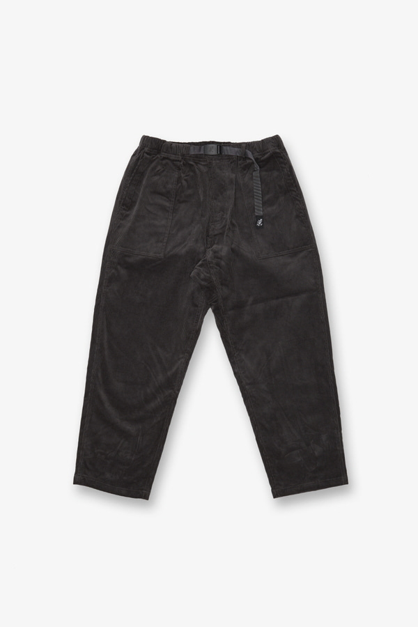 CORDUROY LOOSE TAPERED PANTS CHARCOAL