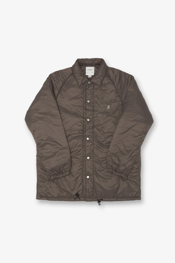 PADDING COACHES JACKET DARK BROWN