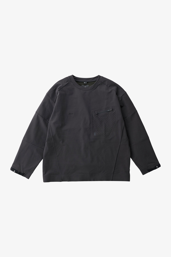 STORMFLEECE LOGAN TEE BLACK