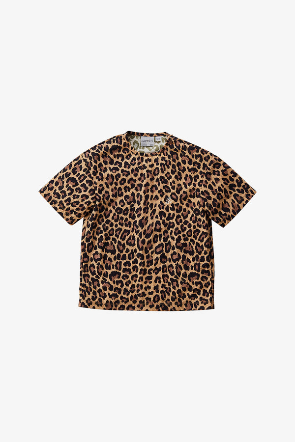 KIDS SHELL CAMP TEE LEOPARD