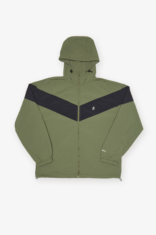 SHELL JACKET OLIVE x BLACK