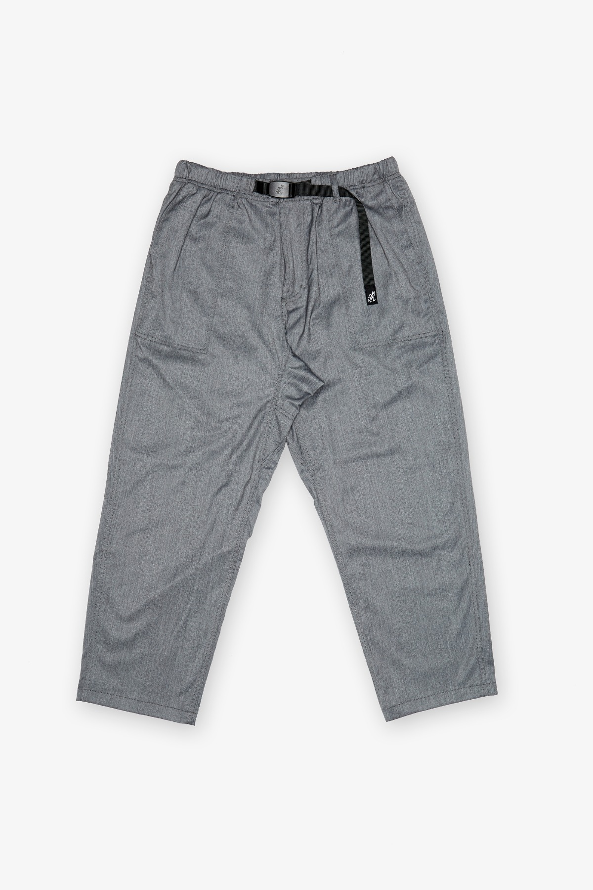 GABARDINE LOOSE TAPERED PANTS GREY