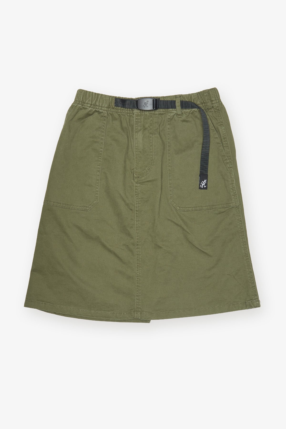 MIDDLE CUT SKIRT OLIVE
