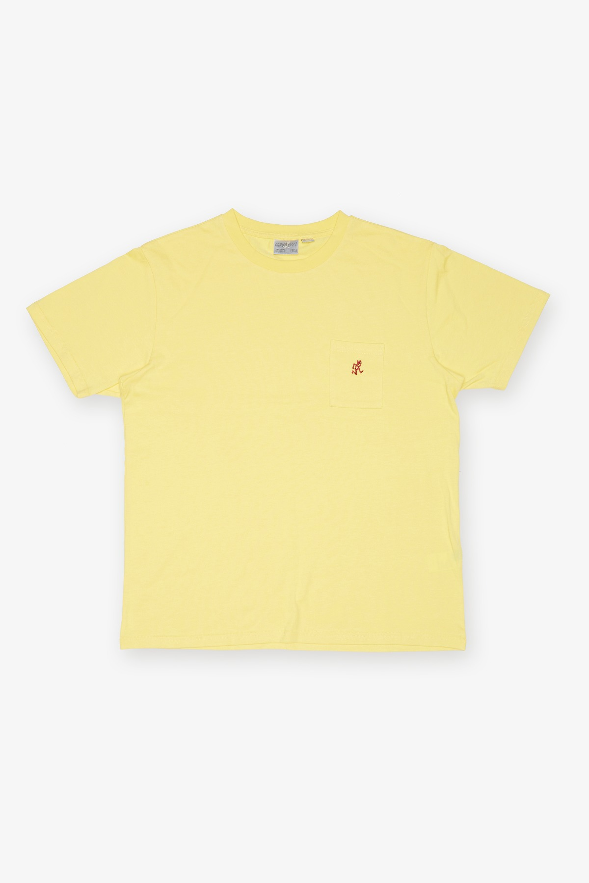 ONE POINT TEE YELLOW