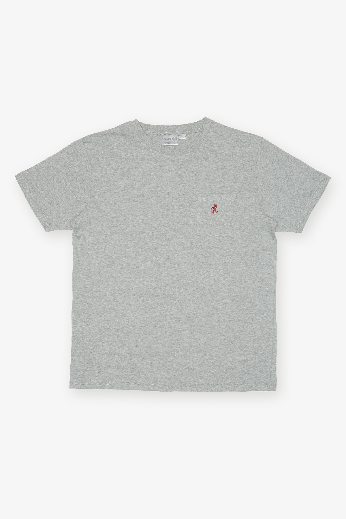 ONE POINT TEE HEATHER GREY