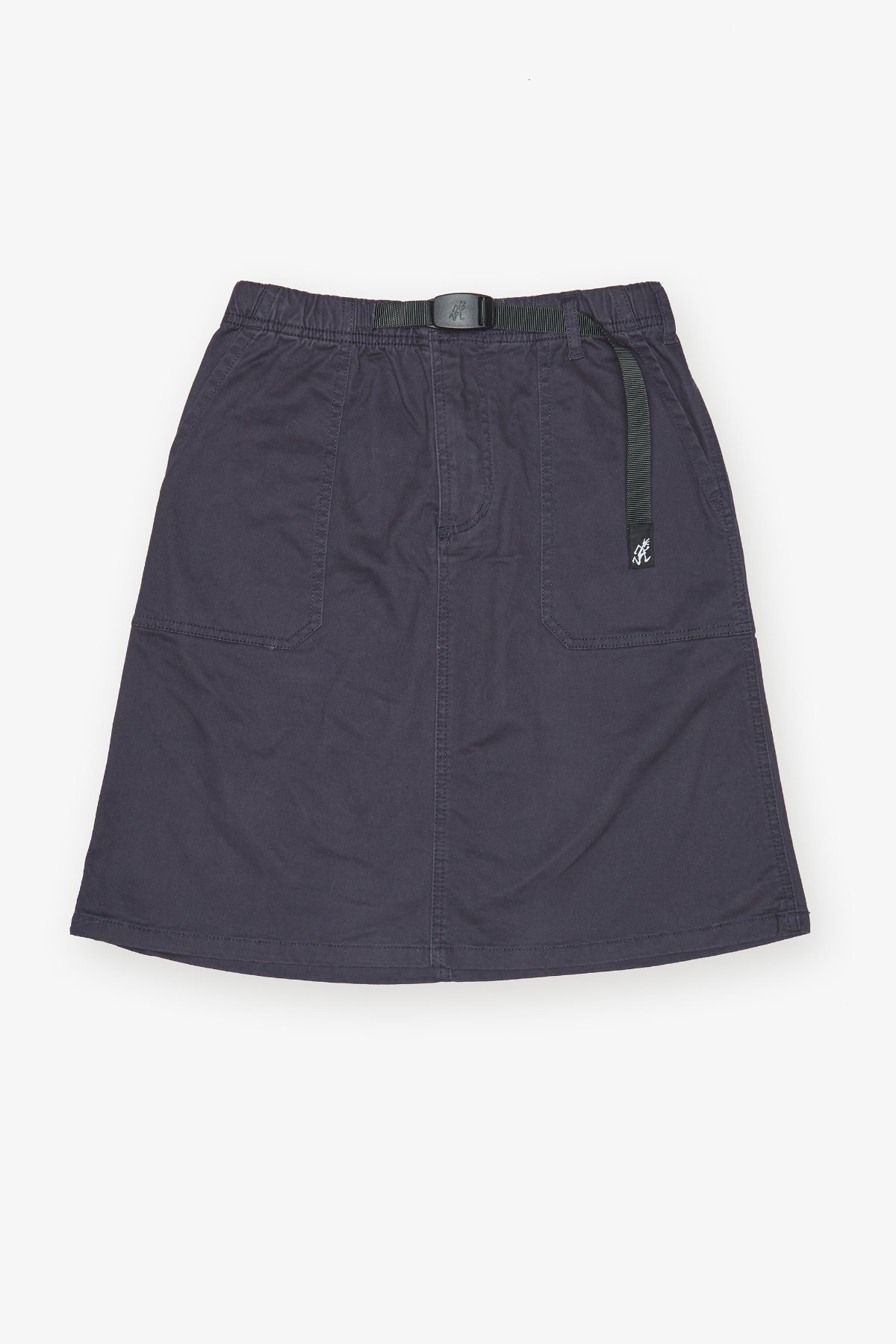 MIDDLE CUT SKIRT DOUBLE NAVY