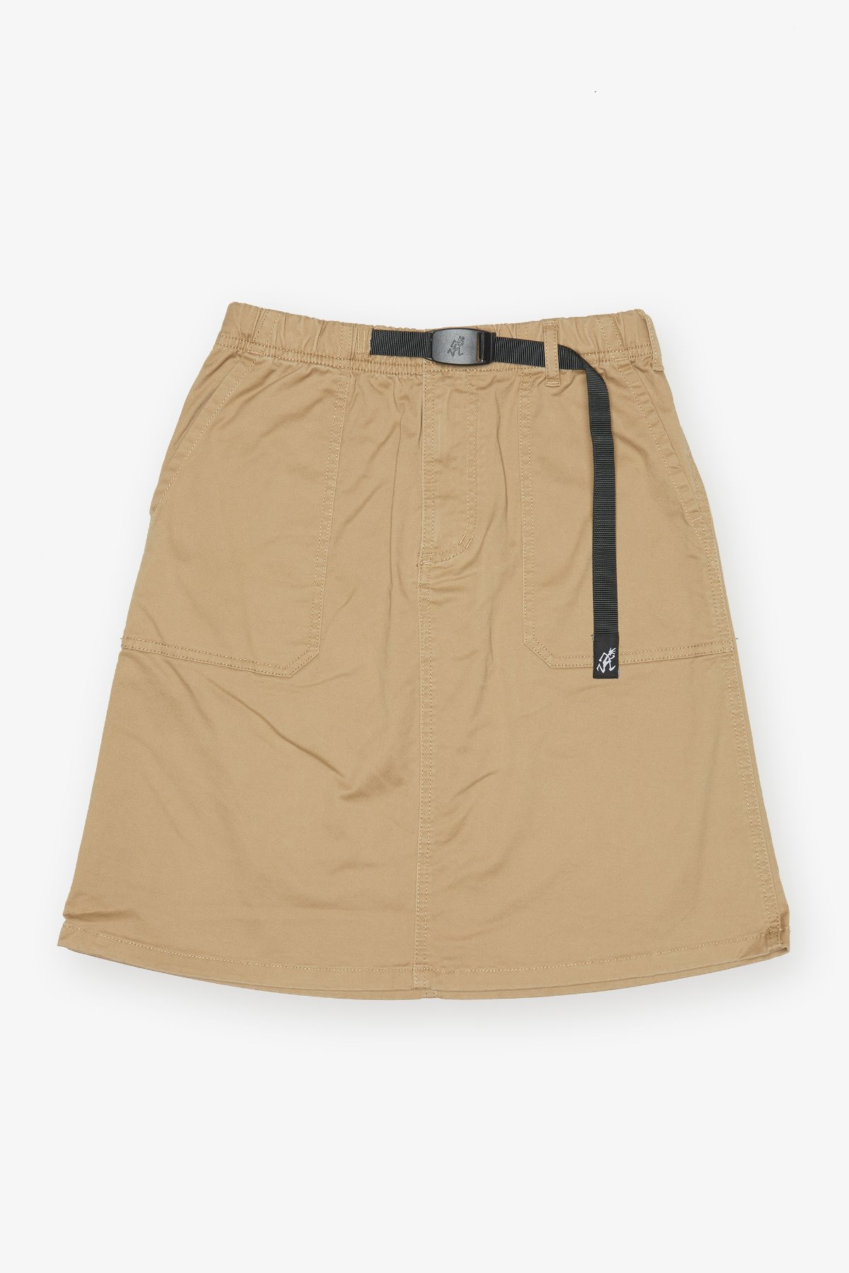 MIDDLE CUT SKIRT CHINO