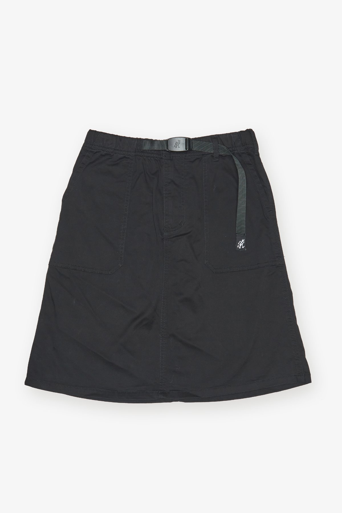 MIDDLE CUT SKIRT BLACK