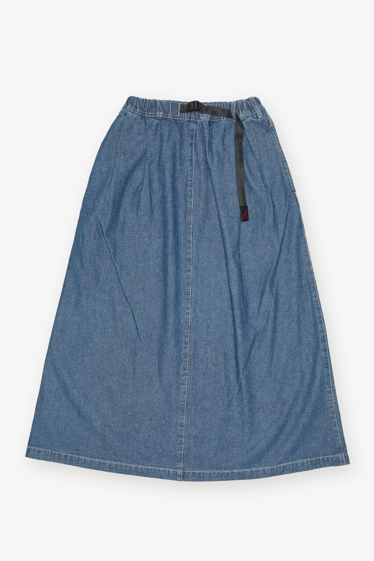 LIGHT DENIM LONG FLARE SKIRT MEDIUM USED