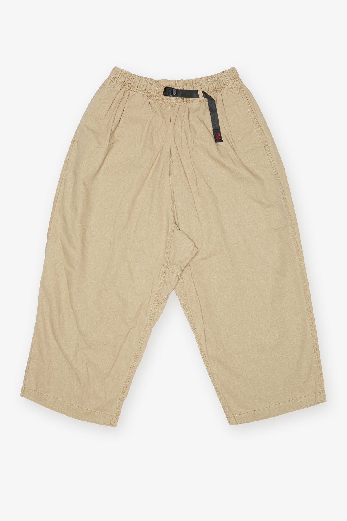 LINEN COTTON BALLOON PANTS BEIGE
