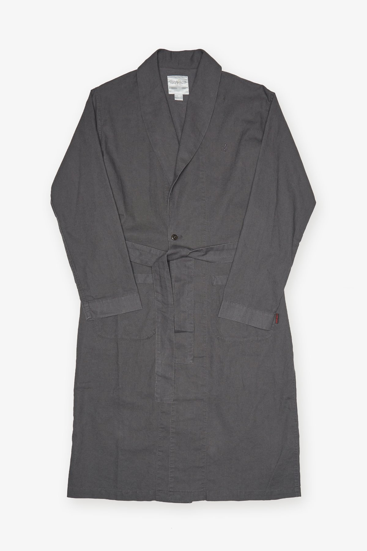 LINEN COTTON GOWN SHIRTS CHARCOAL