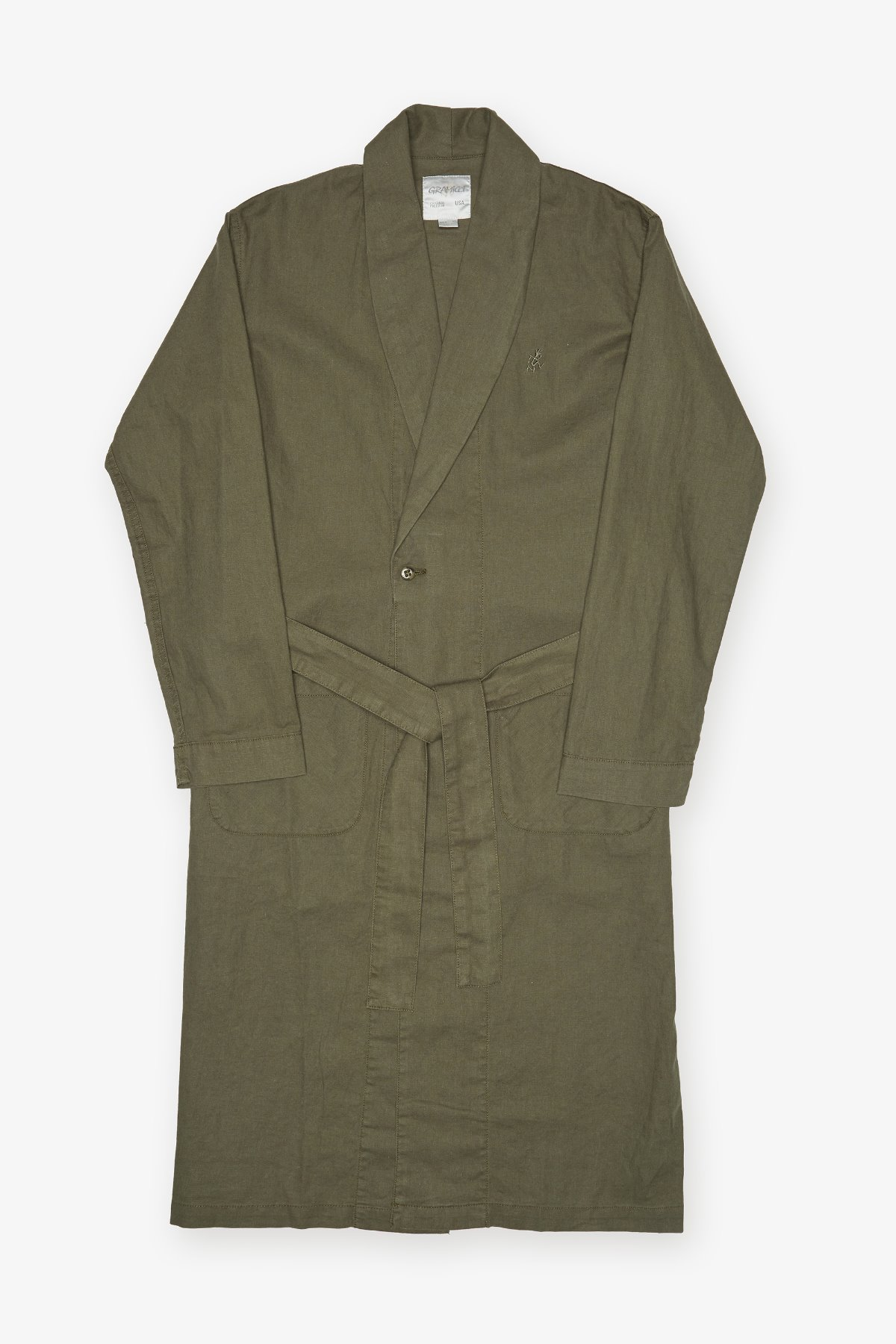 LINEN COTTON GOWN SHIRTS OLIVE