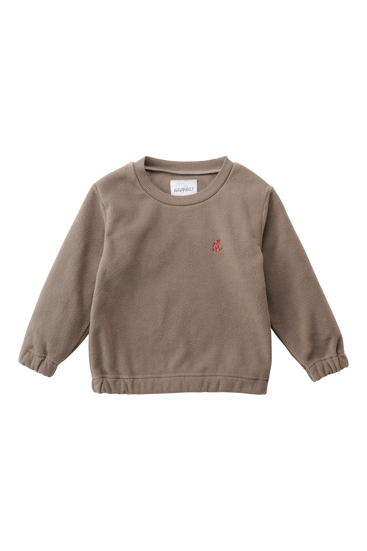 KIDS FLEECE CREW NECK WALNAUT
