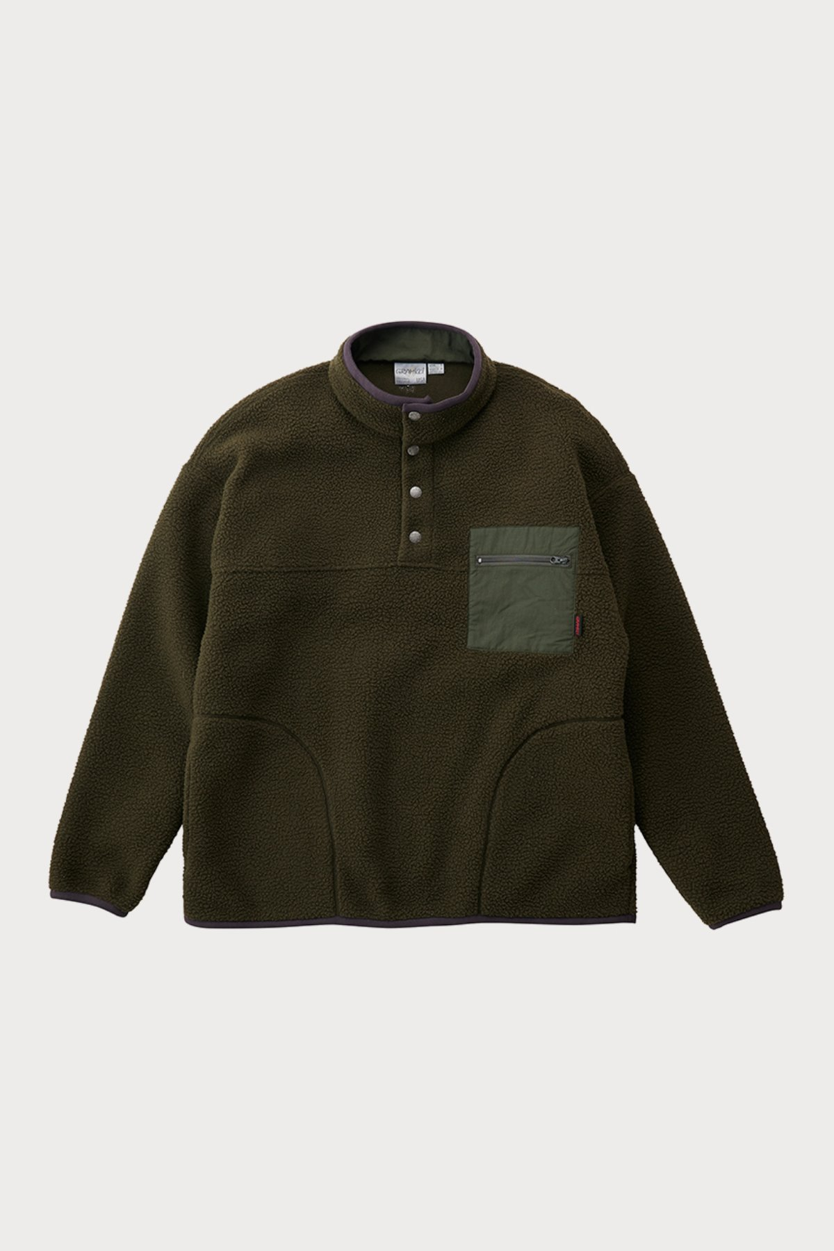 BOA FLEECE PULLOVER SHIRTS OLIVE
