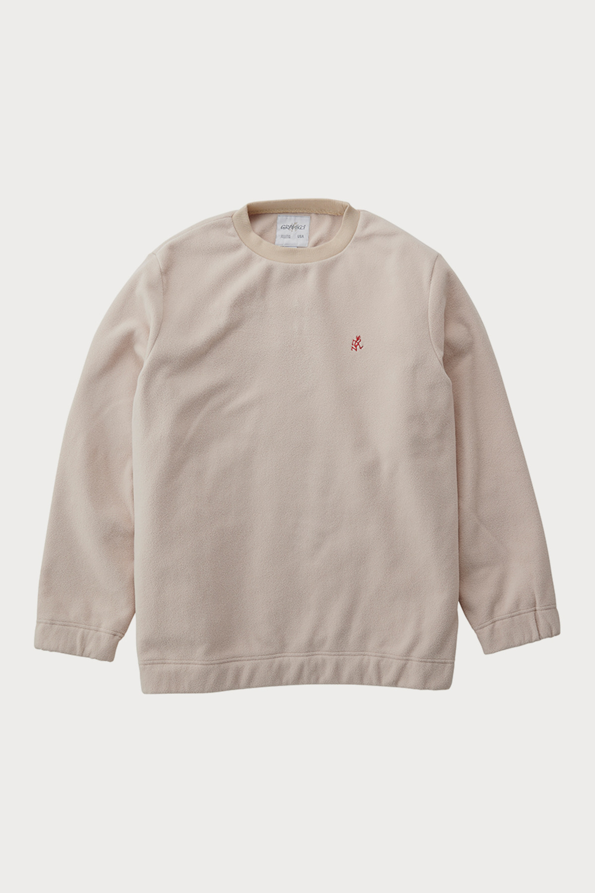 FLEECE CREW NECK IVORY