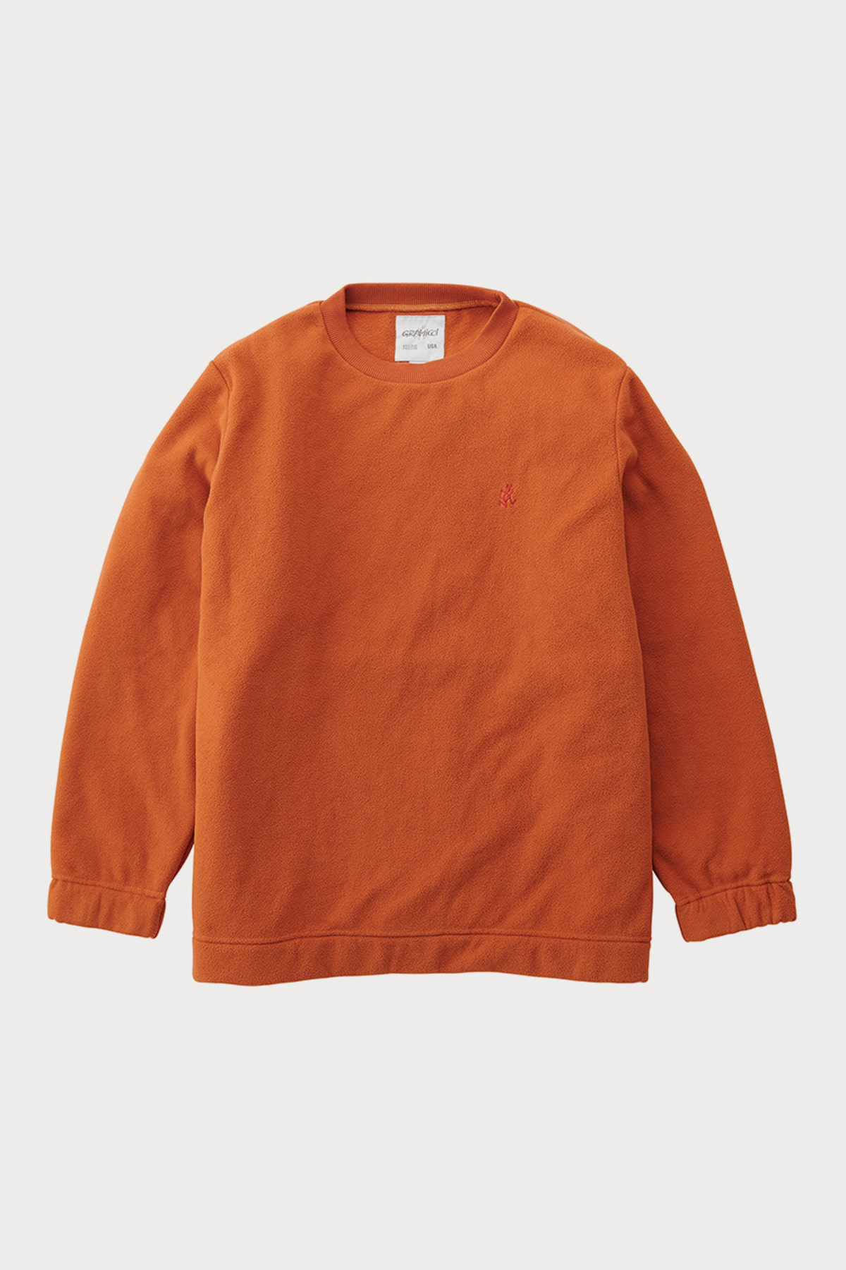 FLEECE CREW NECK ORANGE