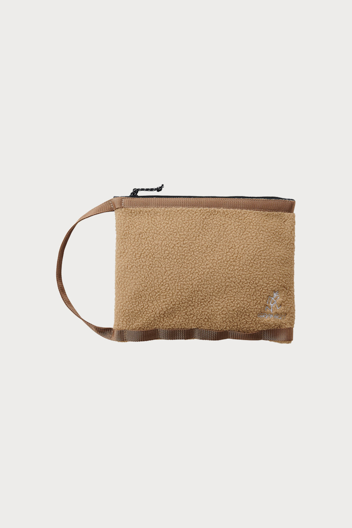 BOA FLEECE HANDLE POUCH BEIGE