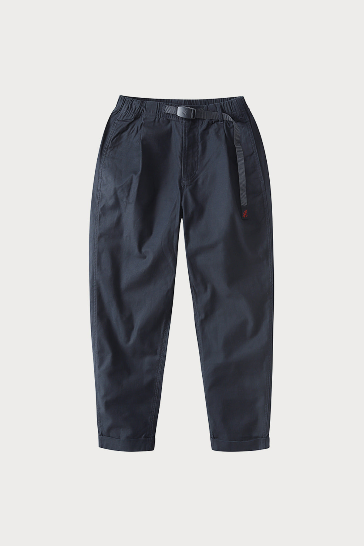 BACK SATIN TUCK TAPERED PANTS DOUBLE NAVY