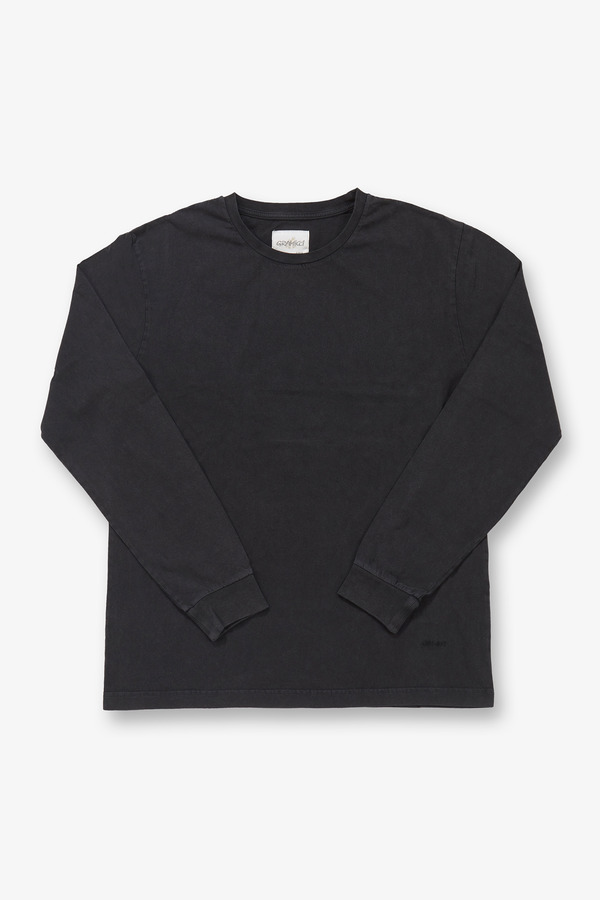 SOLID L/S TEE BLACK