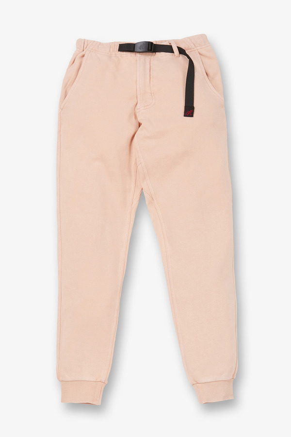 SWEAT NARROW RIB PANTS PINK