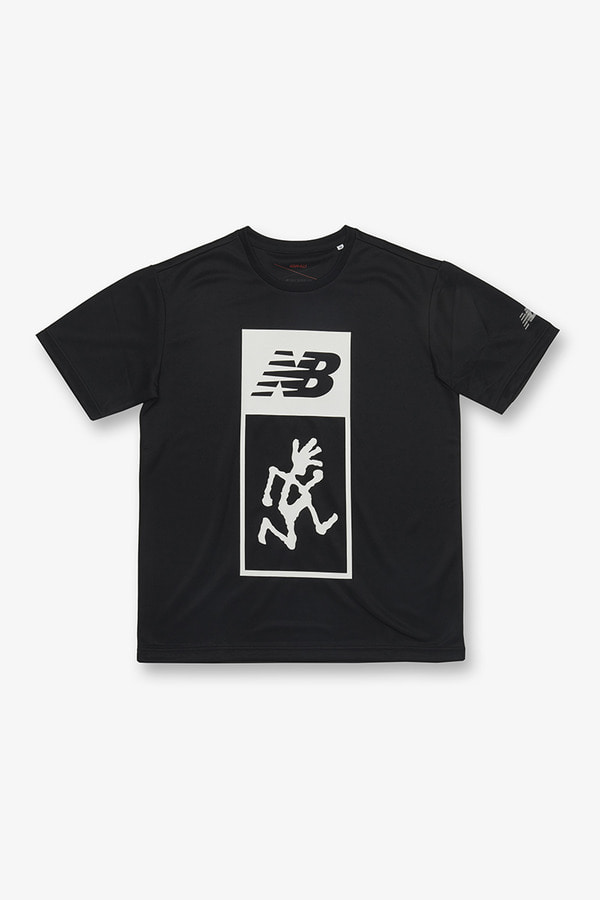 New Balance × GRAMICCI DOUBLE LOGO TEE BLACK