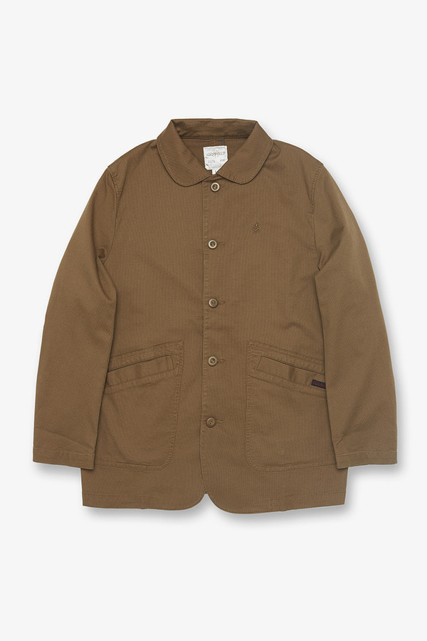 JEAN CORD WORK JACKET KHAKI BROWN