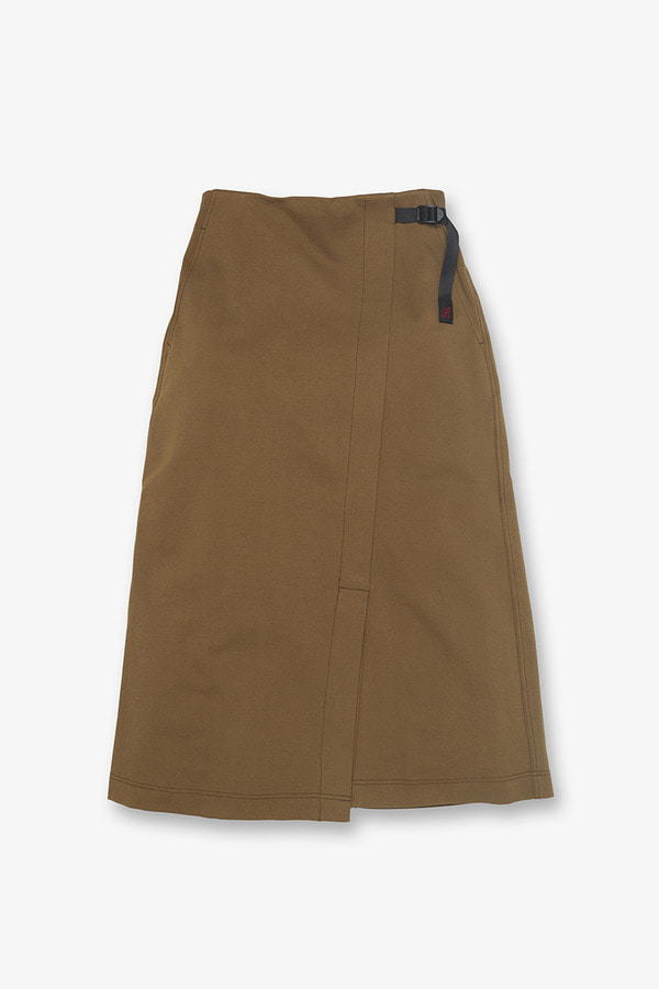 PONTE WRAP SKIRT SEPIA