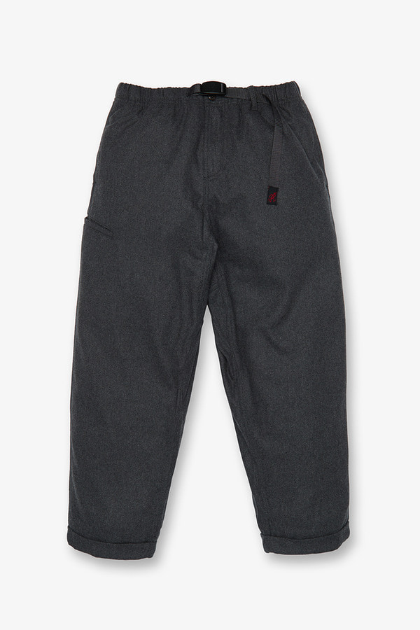WOOL BLEND RESORT PANTS HEATHER CHARCOAL