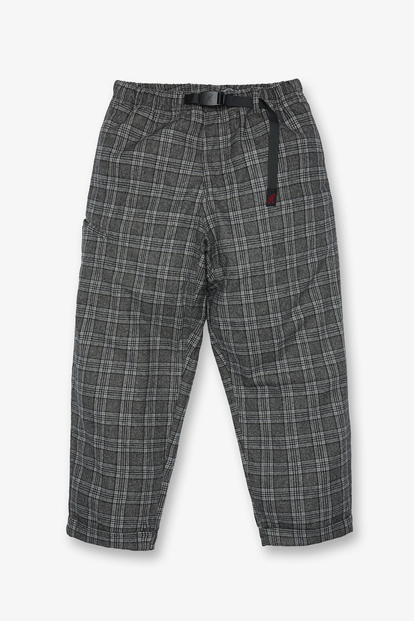 WOOL BLEND RESORT PANTS GLEN CHECK