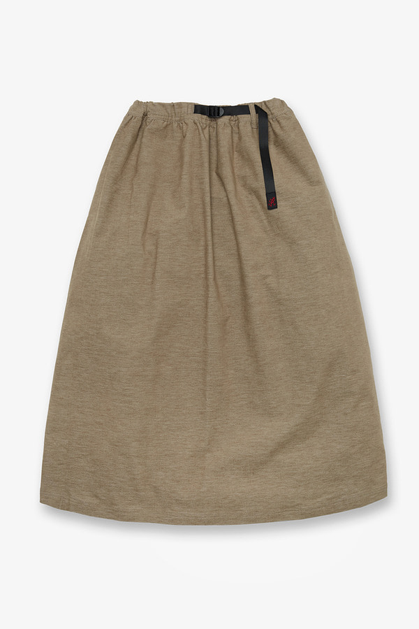 AMERICAN VELVETEEN LONG FLARE SKIRT BEIGE HEATHER
