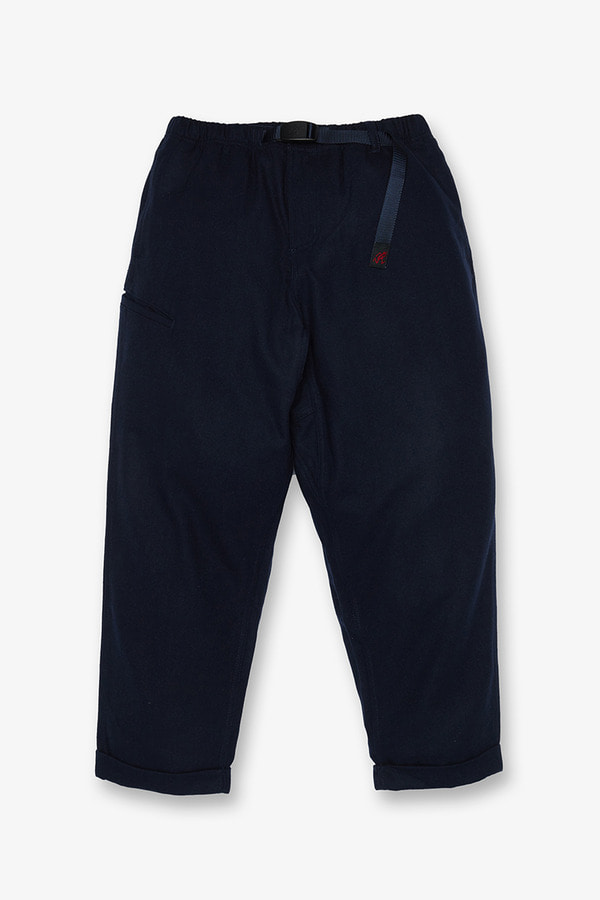 WOOL BLEND RESORT PANTS DOUBLE NAVY