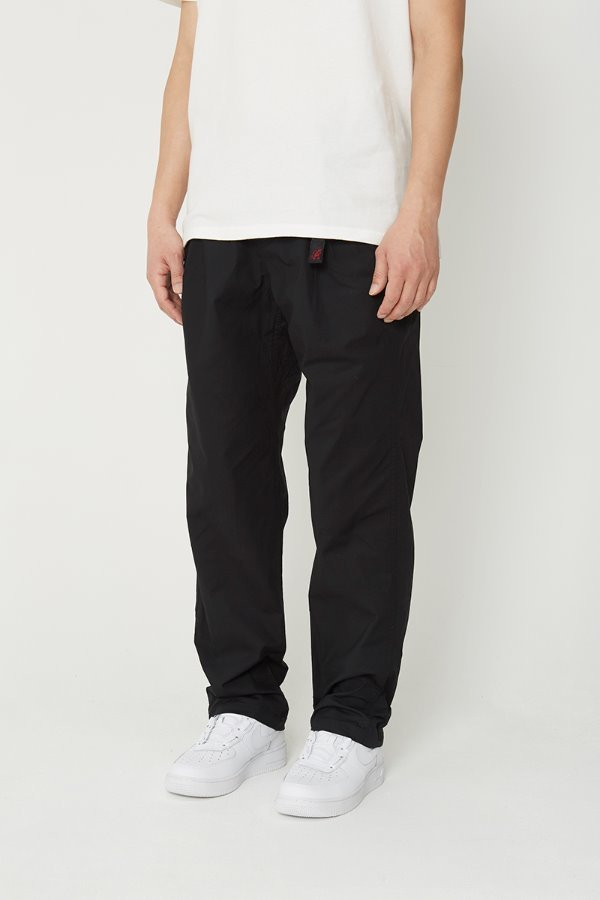 WEATHER TUCK TAPERED PANTS BLACK