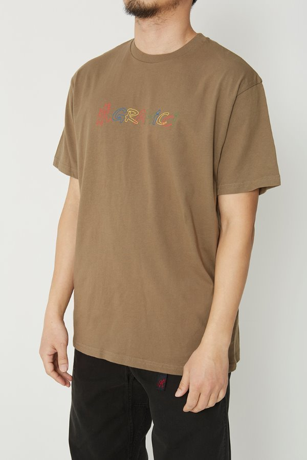 RAINBOW LOGO TEE ASH BROWN