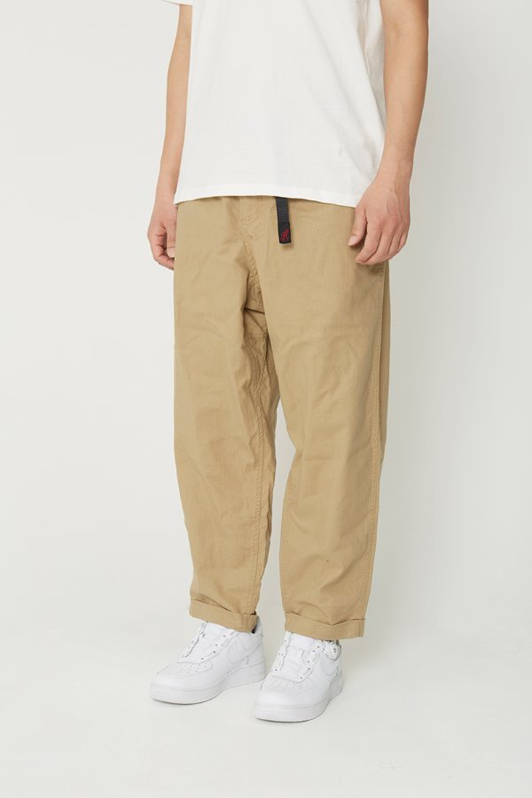 LINEN COTTON RESORT PANTS KHAKI