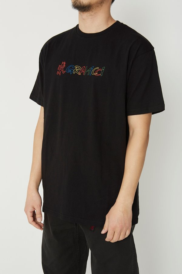 RAINBOW LOGO TEE BLACK