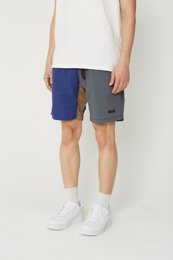 SHELL PACKABLE SHORTS NAVY x CHARCOAL