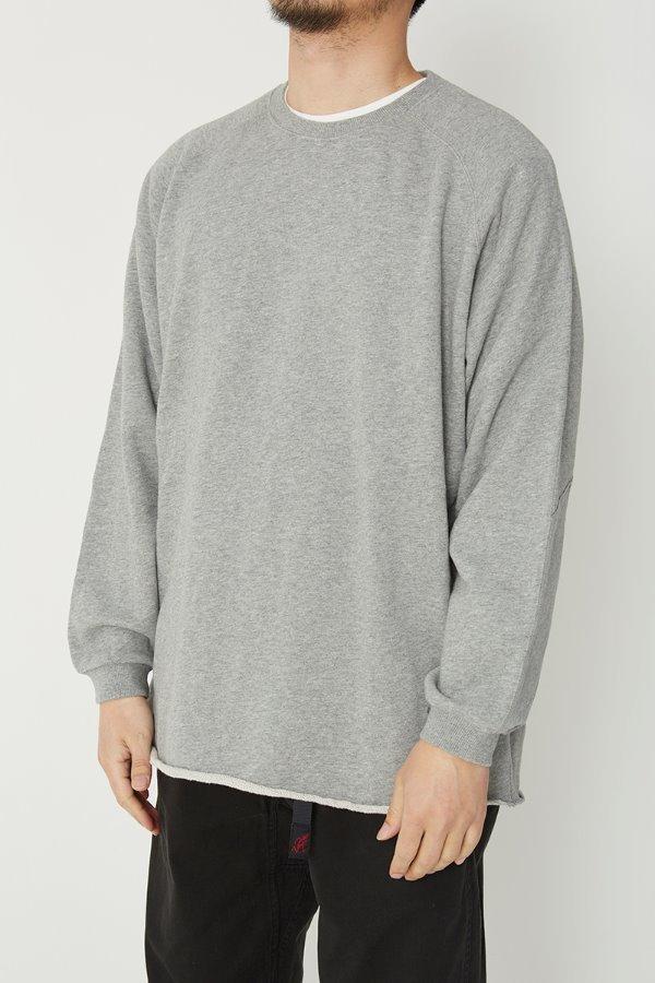 TNT X GRAMICCI TALECUT SWEAT HEATHER GREY