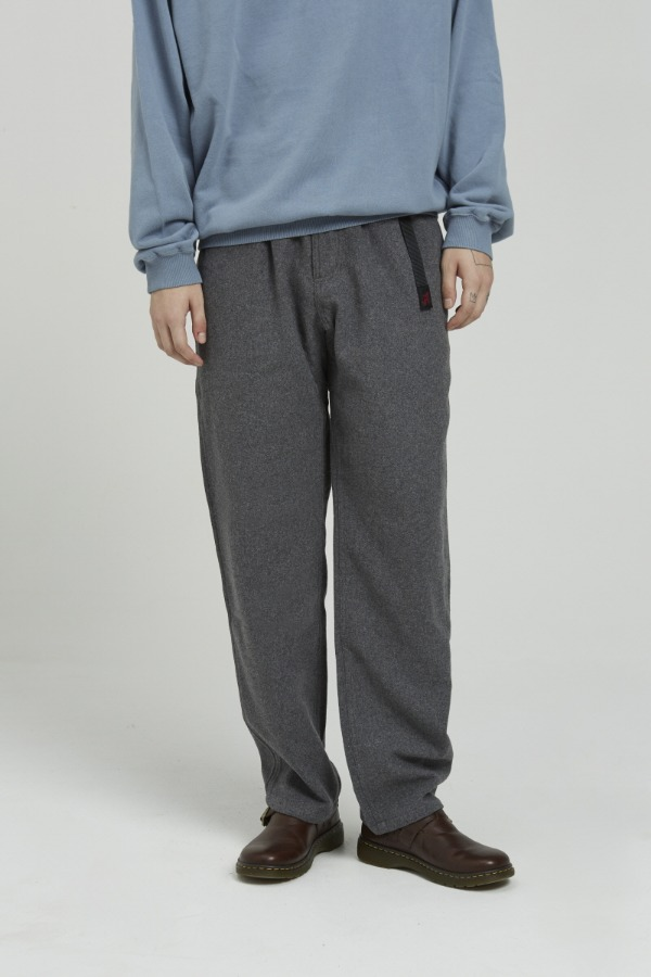 WOOL BLEND GRAMICCI PANTS HEATHER CHARCOAL