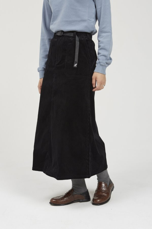 CORDUROY BAKER SKIRT BLACK