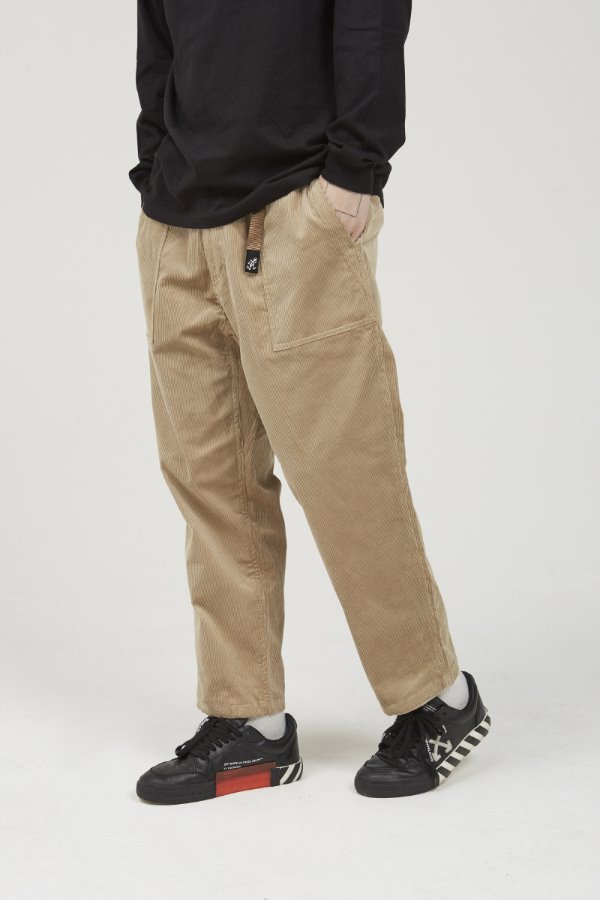 CORDUROY LOOSE TAPERED PANTS BEIGE