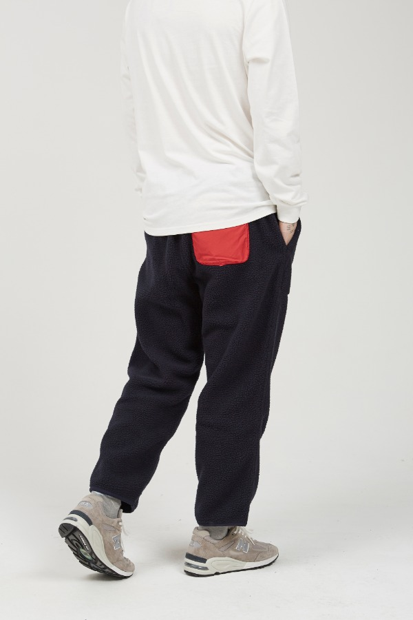 BOA FLEECE LOOSE TAPERED PANTS NAVY