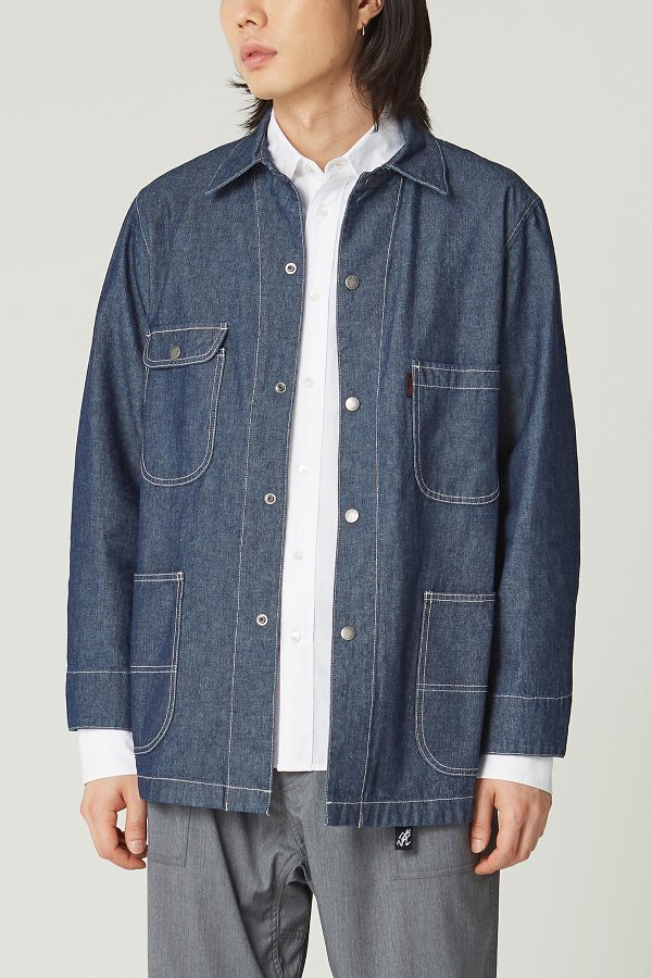 LIGHT DENIM COVER ALL JACKET ONE WASH