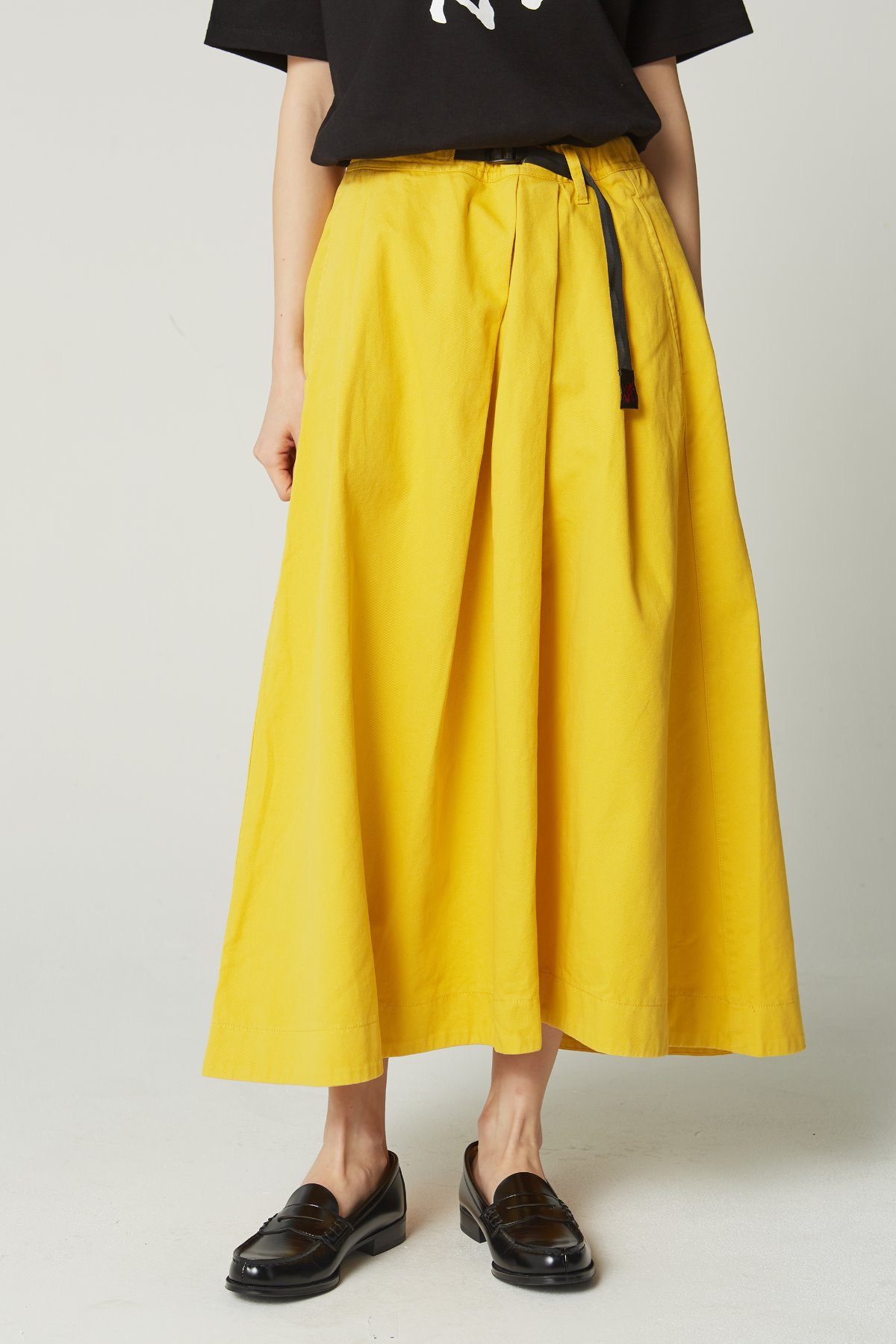 TALE CUT SKIRT YELLOW